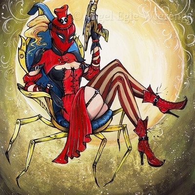 I love this Steampunk Lady Deadpool!!❤️❤️❤️ #comics #LadyDeadpool #steampunk @pheltzcomics