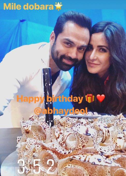 "\""Happy Birthday Abhay Deol\""  Katrina Kaif on her Instagram story"