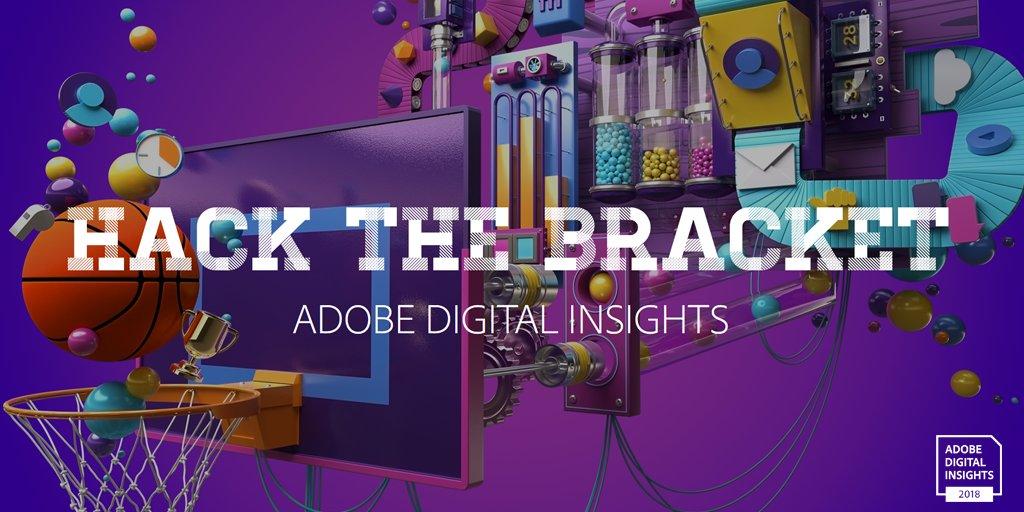 This is madness. Hack your Bracket with Adobe analytics.  @adobe #HackTheBracket  exploreadobe.com/hack-the-brack…
