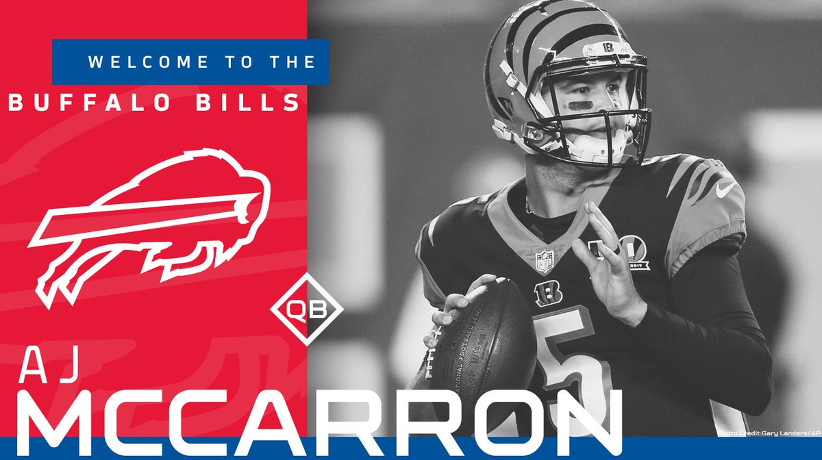 Buffalo Bills On Twitter Weve Agreed To Terms On A Two Year Deal With Qb Aj Mccarron Welcome To Buffalo Ajmccarron