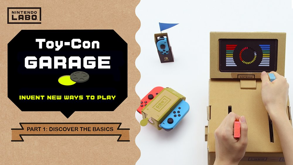 Invent new ways to play with Toy-Con Garage! Get a detailed look into this mode, and learn the basics on how to start making your own Toy-Con projects with #NintendoLabo! bit.ly/2CfbCej