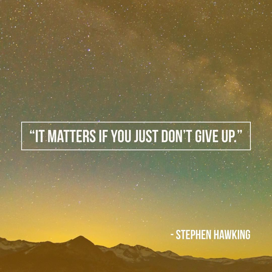 Thank you for reminding us all boundaries are made to be broken Stephen Hawking ������ https://t.co/MnAGl1z1ow