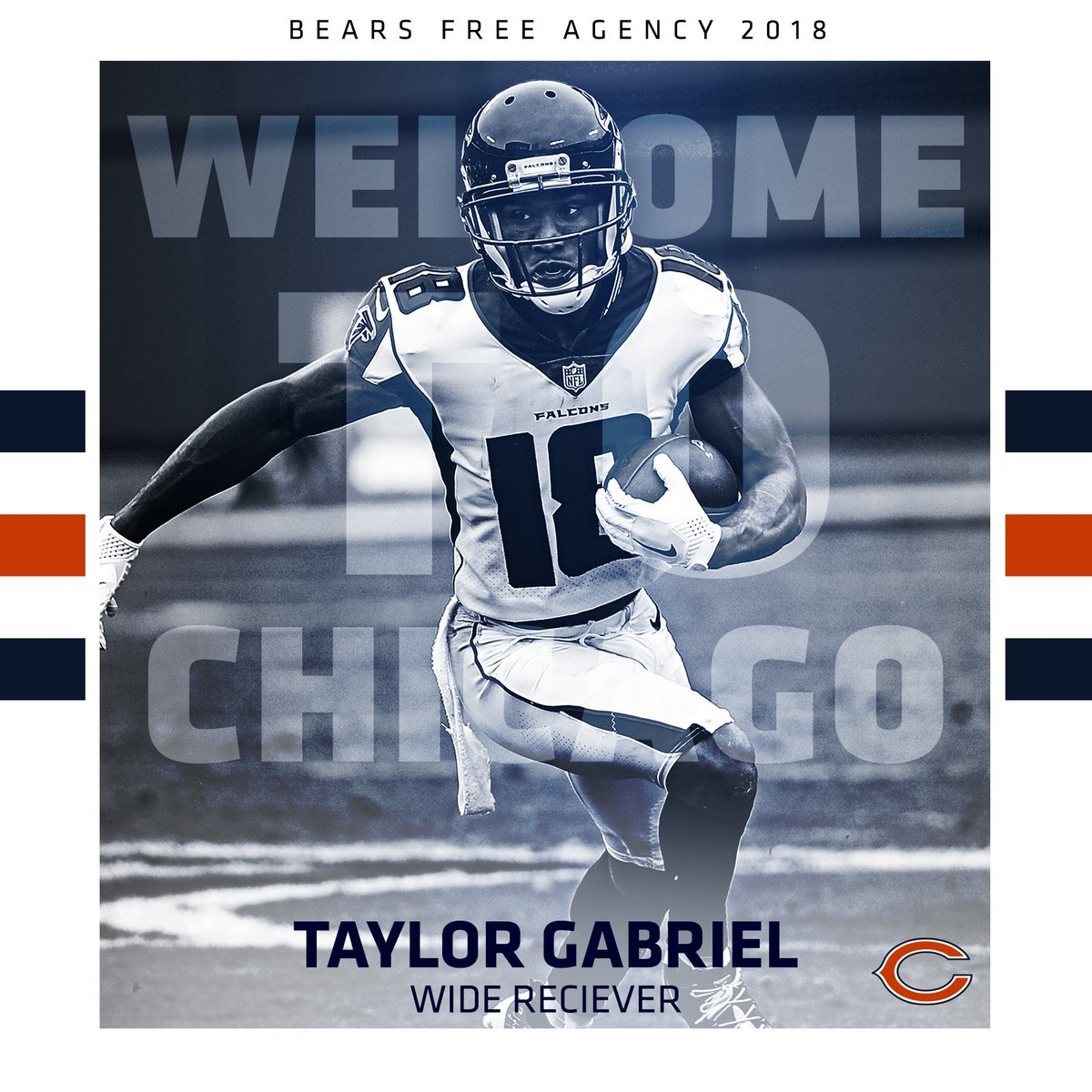Chicago Bears's photo on Taylor Gabriel
