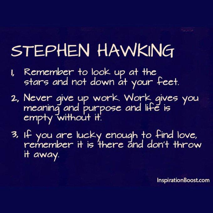 #RIPStephenHawkings twitter.
