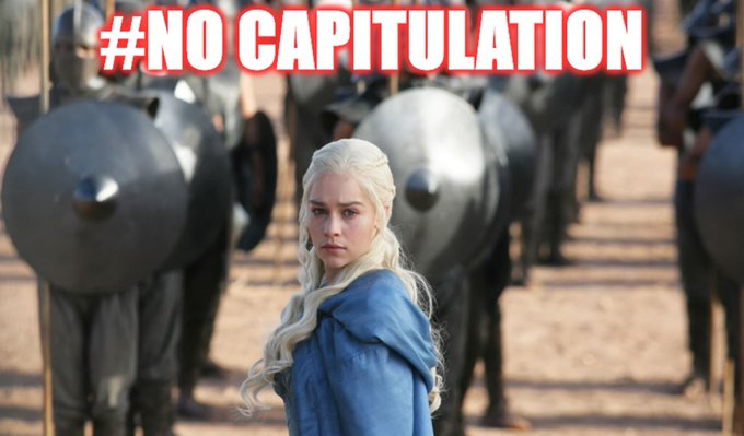 #NoCapitulation twitter.