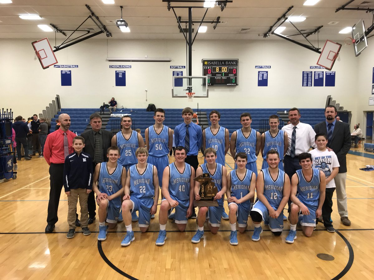 CONGRATULATIONS MUSTANGS! Mustangs are Regional Champions! Final score: 55-43. Meridian advances to the next round of play in Freemont. It's a great day to be a Mustang!