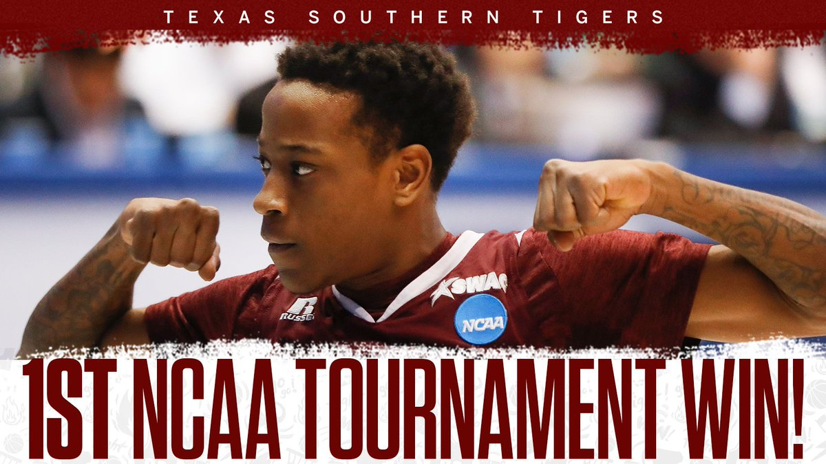 For the first time EVER.  Texas Southern wins its first NCAA Tourney game, going 0-7 prior to tonight.