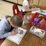 Image for the Tweet beginning: Kindergarteners practice searching for their