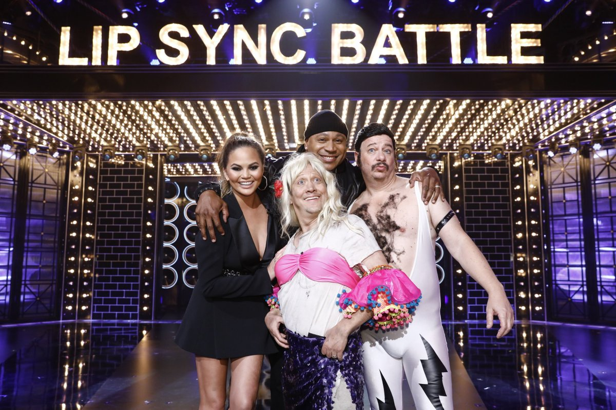 Thanks @lsb @paramountnet @LLCoolJ @ChrissyTeigen it was fun! Thursday Mar15th at 10/9c #LipSyncBattle