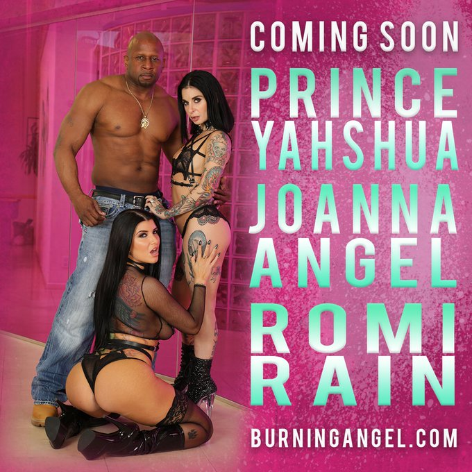 #comingsoon to @BurningAngel and to burn your faces off: A three way with @JoannaAngel @PrinceYahshua