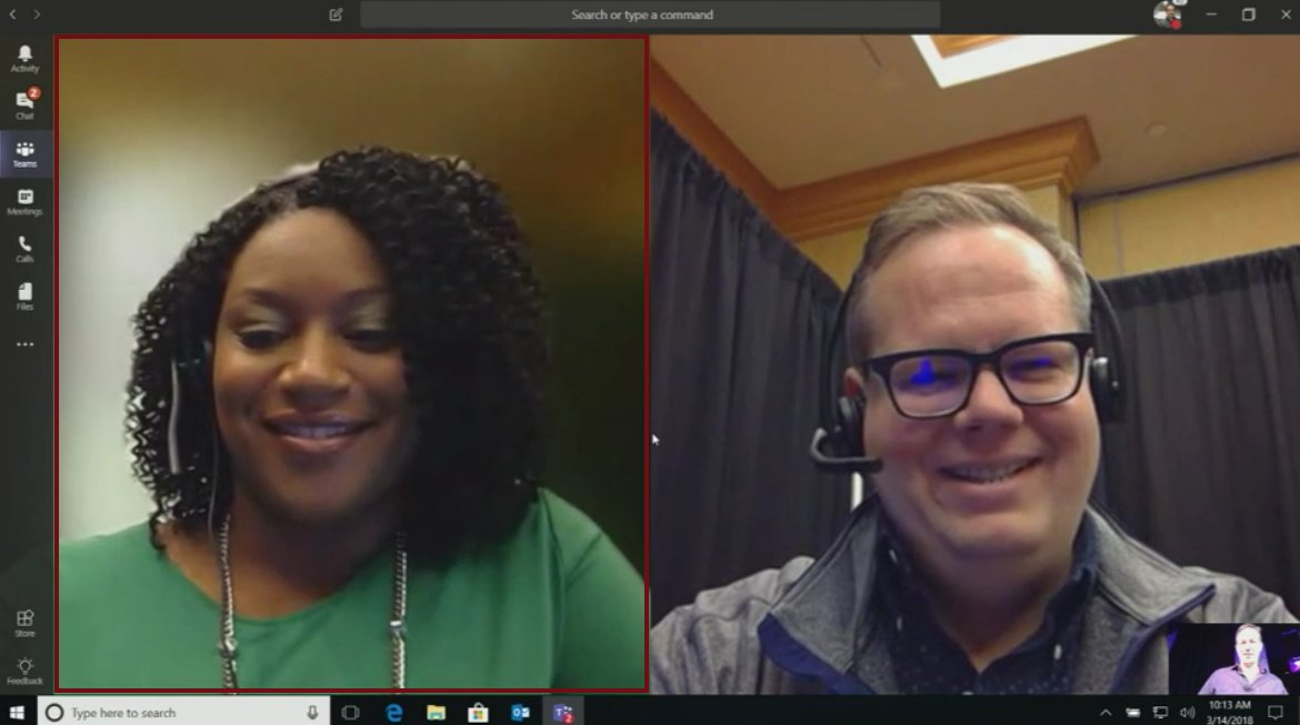 Anne Michels On Twitter Working From A Golf Course Messy Office Or Kids Running Around Looks As If You All Can T Wait For Background Blur On Video Coming To Microsoftteams Later