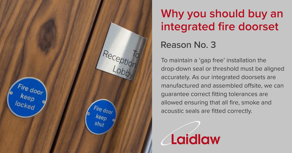 There are many reasons why you should consider buying an integrated #firedoorset rather than specifying doors and #ironmongery products separately. & Laidlaw UK (@laidlaw_uk) | Twitter