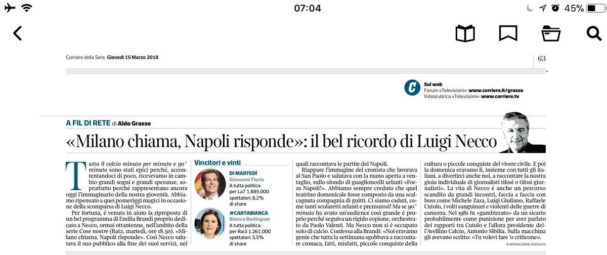#LuigiNecco salutato da Aldo Grasso  - Ukustom