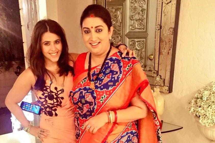 Happy B'Day Maasi No. 1': Ekta Kapoor wishes Smriti Irani with an ...