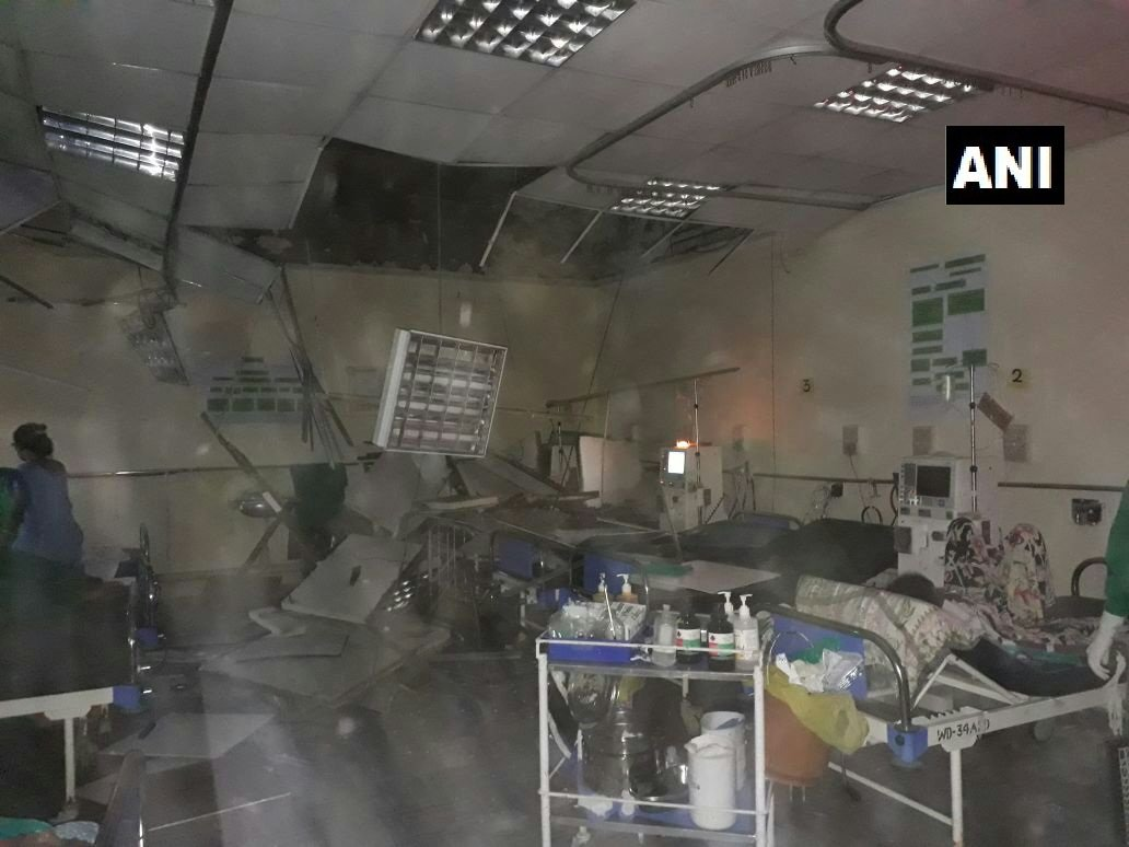 Mumbai: 2 patients injured after a portion of building of KEM Hospital collapsed yesterday. #Maharashtra