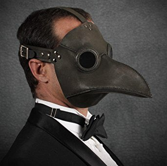 花粉対策で街中の人が皆マスク付けてる光景見る度に、 「同じマスクならペストマスクが流行れば良いのに…」って思ってる。 目も覆えるし。