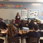 Image for the Tweet beginning: Mrs.McGowan spoke to 6th grade
