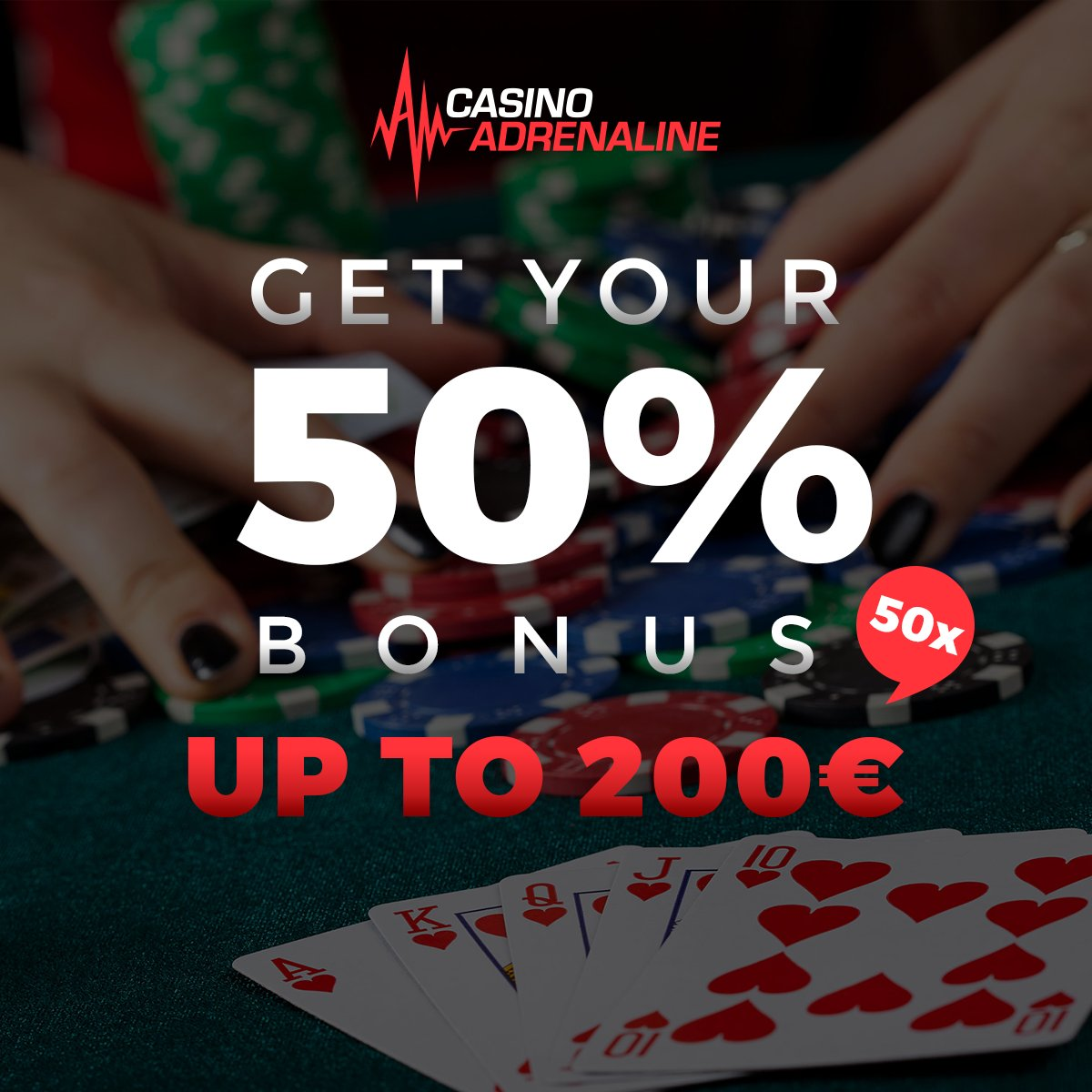 test Twitter Media - Challenge your luck today and get your 50% bonus up to 200 EUR 50x, bonus and deposit! 😲😎 #CasinoAdrenaline #CasinoAdrenalinebonus https://t.co/Z6vHpQT5Ox