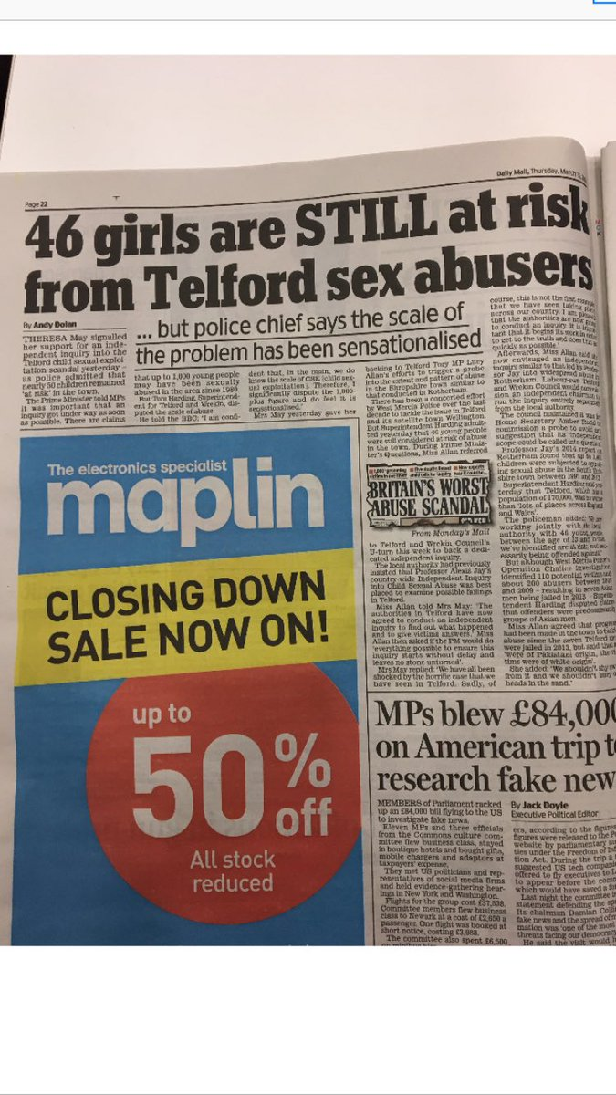 My interview with @WMerciaPolice in papers today: officers dealing with 46 cases of #CSE in #Telford
