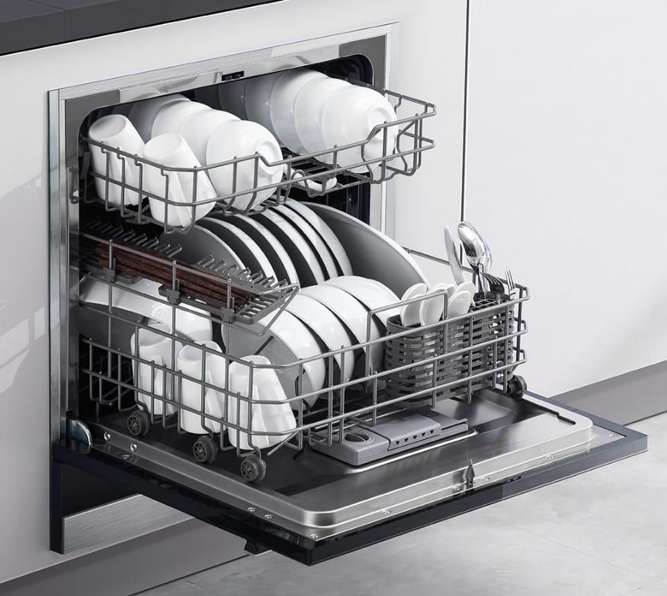 Открытка, картинки посудомоечная машина