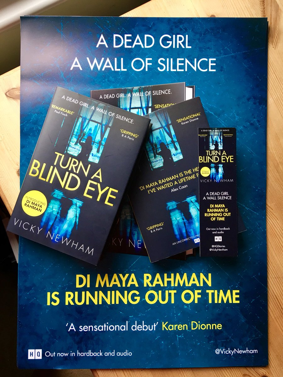 One of the highlights of this week (year?) has been taking a couple of copies of #TurnaBlindEye into my local bookshop @harbourbooks yesterday for the staff to read. A real something-in-my-eye moment & a dream come true! 💙💛