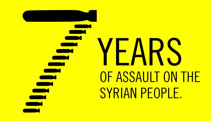 7 years.  400,000+ dead. 5.6 million refugees.   We will not sit silently & watch this tragedy continue for the eighth year in #Syria → amn.st/6014DpvBG