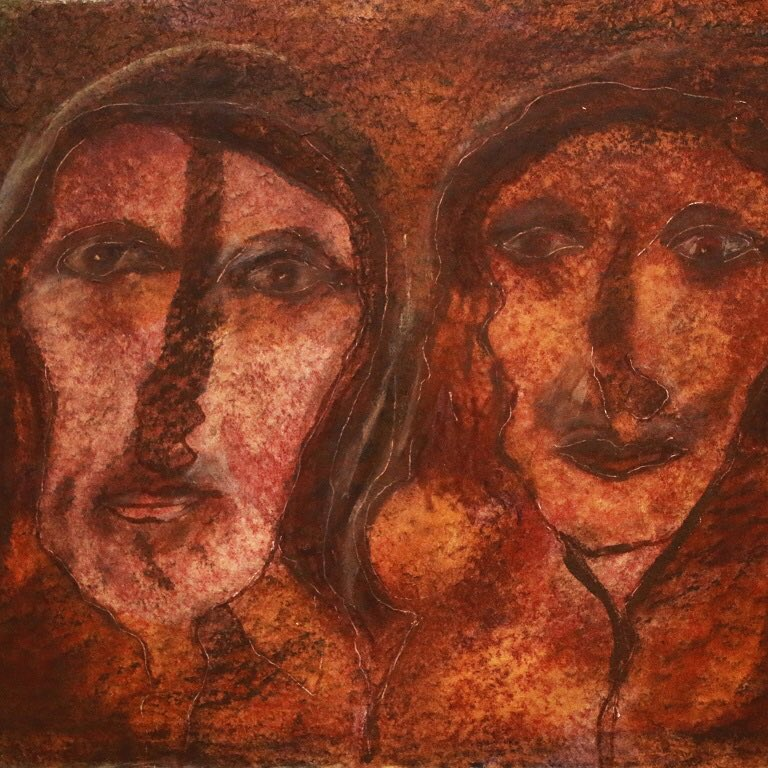 'Sisters', 1963, by Kamala Ibrahim Ishaq. One of the pieces from #ArtDubaiModern  Mixed media on paper. 27.5 x 35 cm.   Courtesy the artist #ArtDubai2018 <br>http://pic.twitter.com/2eW7yPOTYX