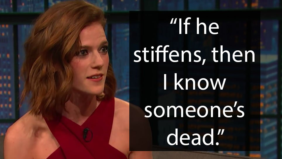 Rose Leslie knows exactly how to deal with 'Game of Thrones' spoilers from Kit Harington on.mash.to/2FBQwJ8