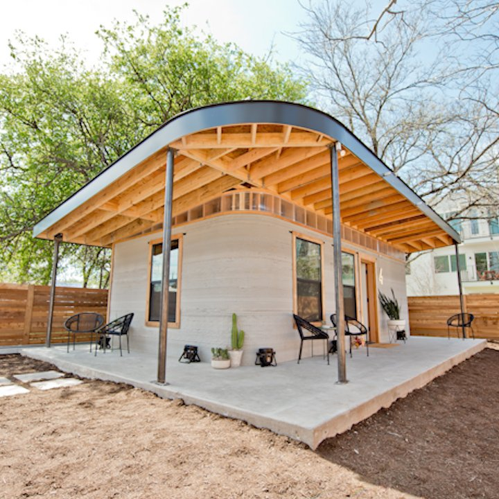 Image for the Tweet beginning: This $10,000 3D printed home