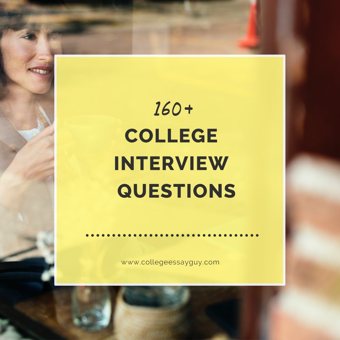 """This ultimate collection of college interview questions will help prepare you for whatever that university will throw at you (including the dreaded """"tell me about yourself"""" question), whether you're being interviewed in person or online. goo.gl/JSLWnF"""