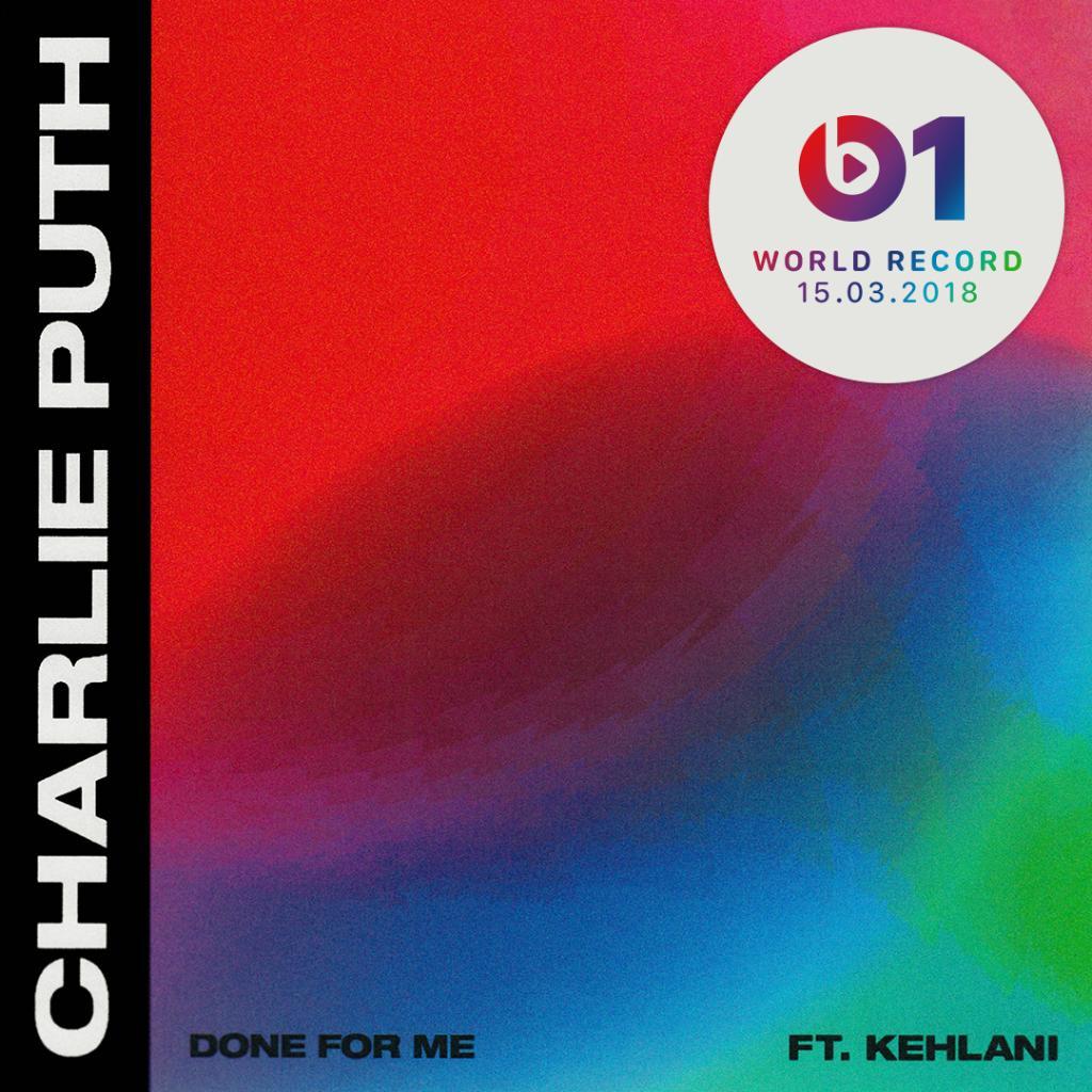 New @charlieputh! #DoneForMe ft. #Kehlani is @zanelowe's #WorldRecord premiere. apple.co/Zane