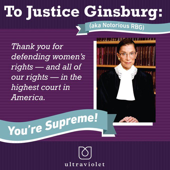 Happy 85th birthday to Justice Ruth Bader Ginsburg, Notorius RBG!