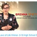 Check out the award-winning Laws of Life speech from Brenna Spieth, our 9-10 High School Division winner here: https://t.co/7bvRt6ynMm #CCPSSuccess
