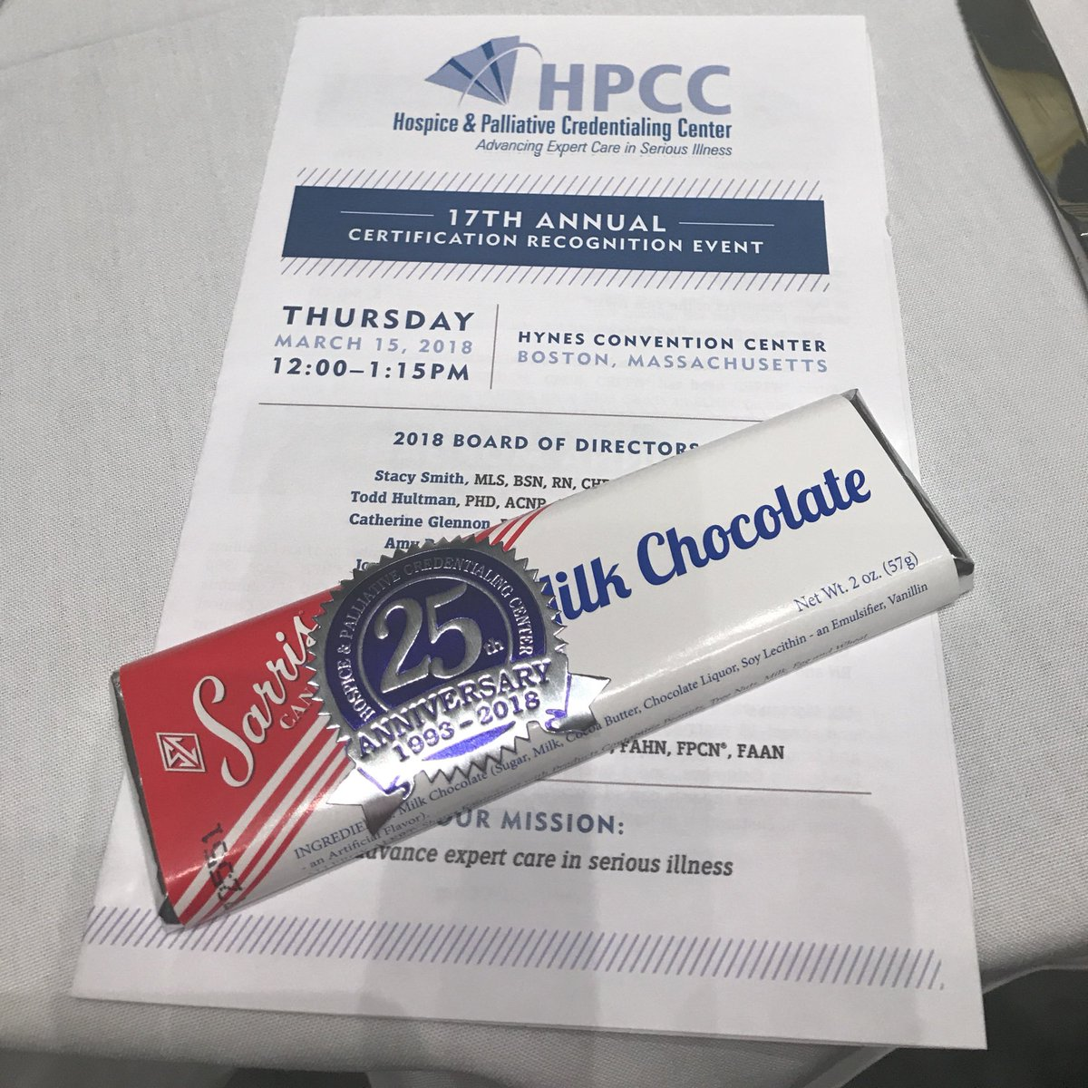 Hpm Chat On Twitter Chocolate Hpcc Certification Lunch