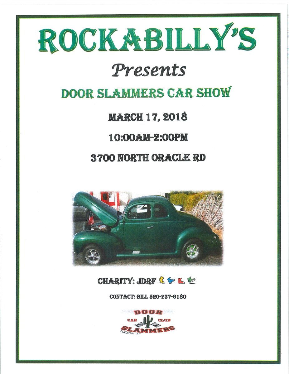JDRF Arizona On Twitter The Door Slammers Car Club Is Having A - Tucson classic car show 2018