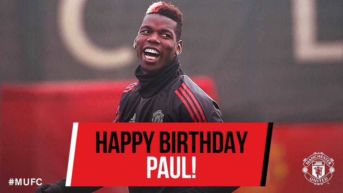 Happy birthday, @PaulPogba! 🎂
