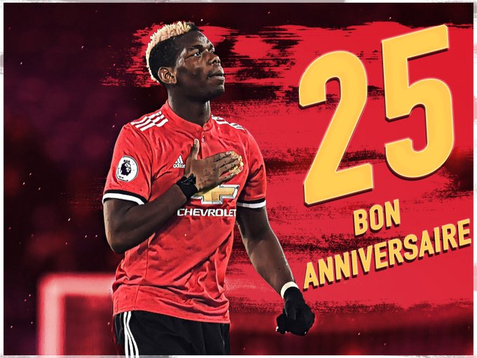 Happy 25th birthday to Paul Pogba