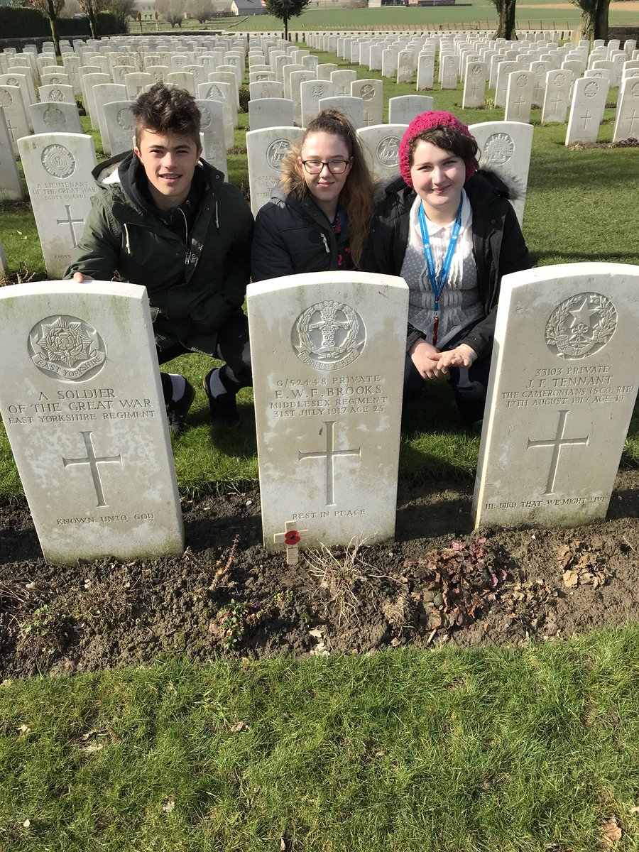 Commemorating our local soldier from Wacton Common who is buried at Tyne Cot cemetery, Belgium.