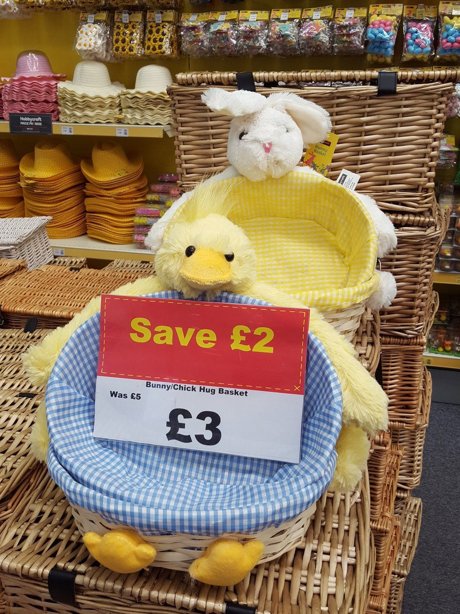 Hobbycraft swindon on twitter how cute are these bunny and chick hobbycraft swindon on twitter how cute are these bunny and chick hug baskets why not fill them with easter treats as a gift negle Images