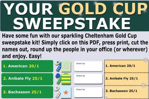 Cheltenham gold cup 2018 sweepstake