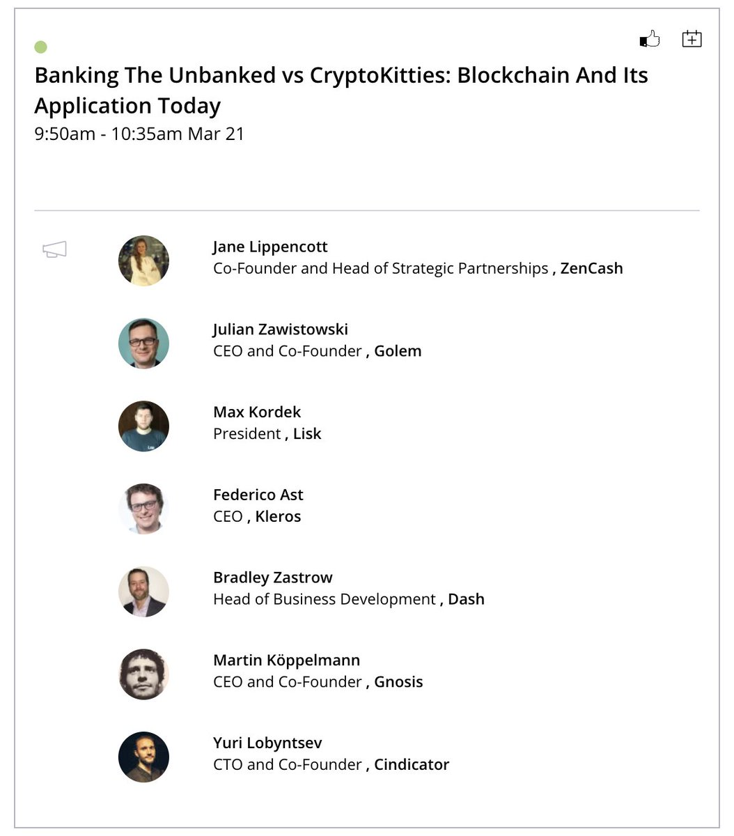 """Don't forget to catch Julian and this outstanding panel at @token2049 tomorrow at 9:50 am local time #HongKong """"Banking the Unbanked vs. Cryptokitties: Blockchain and its Application today"""" cc @LiskHQ @Kleros_io @gnosisPM @Crowd_indicator @Dashpay @zencashofficial"""