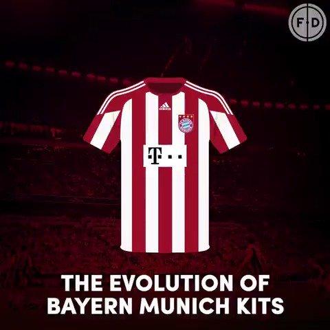 Evolution of Bayern Munich kits 🇩🇪