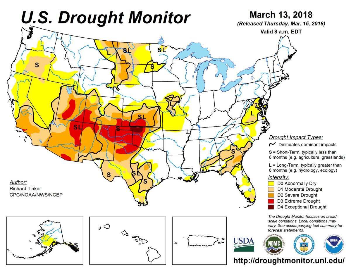NWSCPC on Twitter The latest US drought monitor shows continued