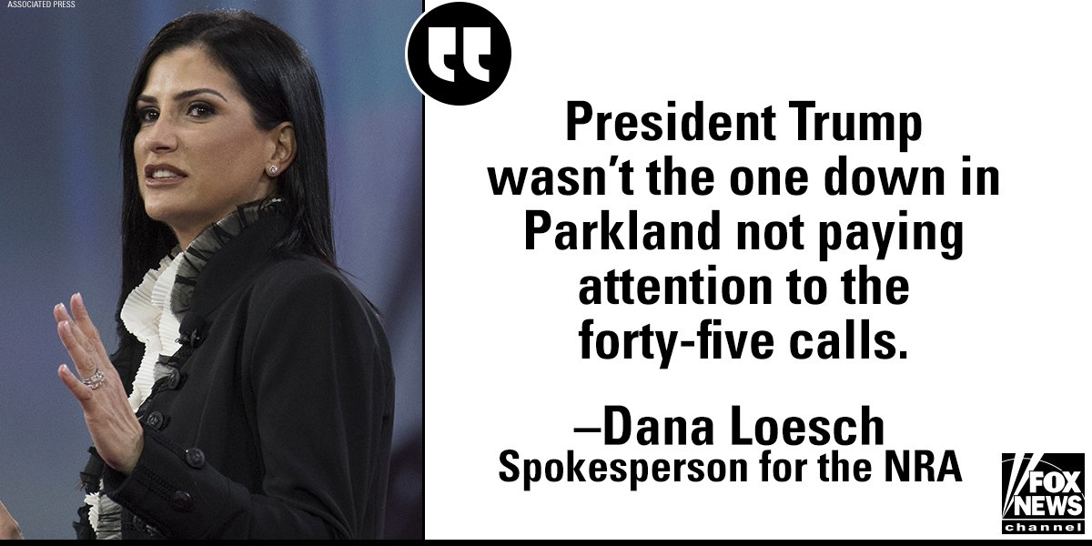 .@DLoesch on School Walkouts: It Wasn't @POTUS & @NRA Who Missed '45 Calls' About Shooter https://t.co/xOtB9f9LcX https://t.co/NkeN5i1g06