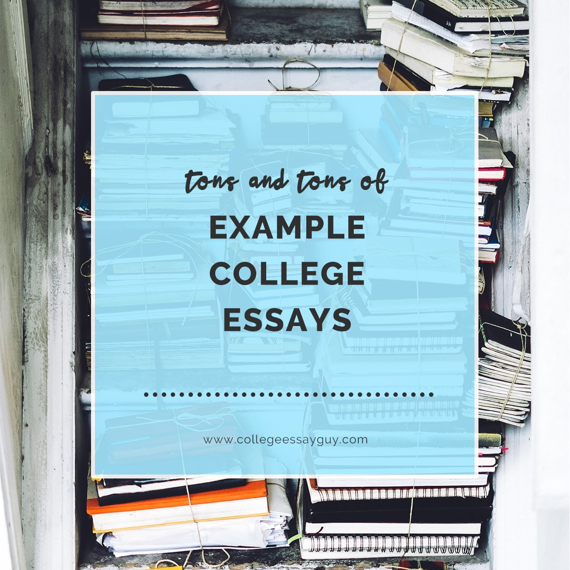 One of the best ways to learn to write your college application or admissions personal essay about yourself is by learning from real college essay samples that worked.  Here are 12 examples of essays that worked: goo.gl/vWLdCe