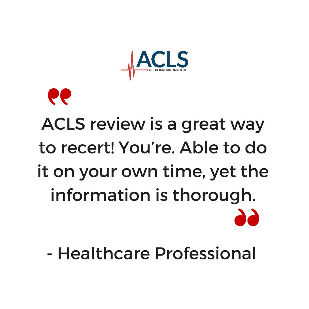 Acls Certification On Twitter Aclscertificationinstitute Has All