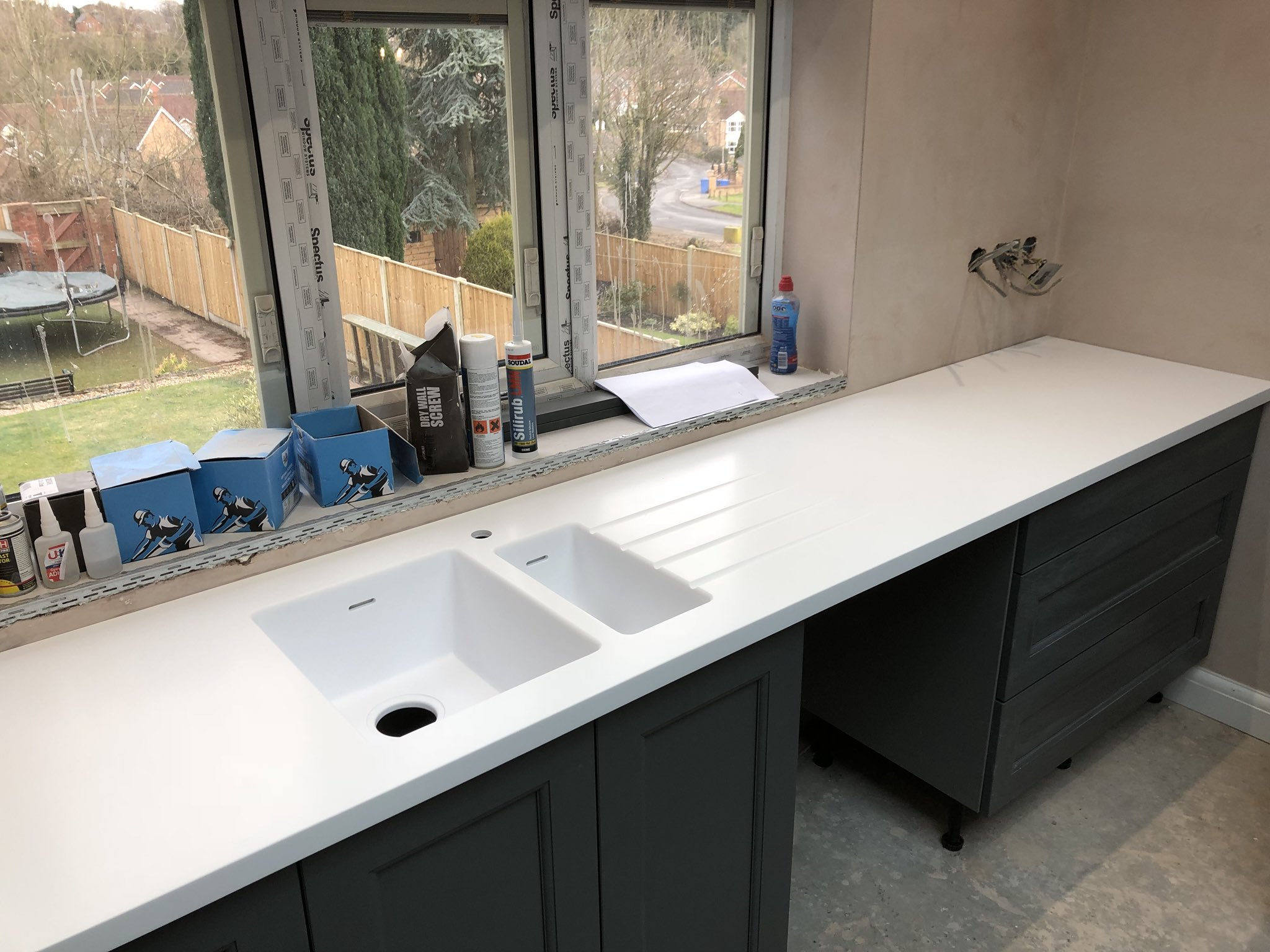 Picture of: Sheff Solid Surfaces Pa Twitter Luxurious Tristone Whale White Worksurfaces With Integrated Corian Sinks Expertly Installed This Week By Our Team In Nottinghamshire Madeinsheffield Tristoneuk Solidsurface Sheffieldissuper Https T Co