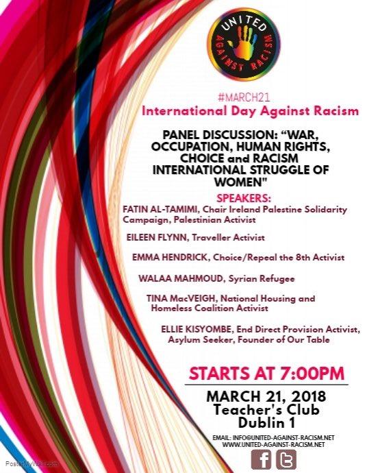 #NoToRacism #March21 #WomensStruggle #Du...