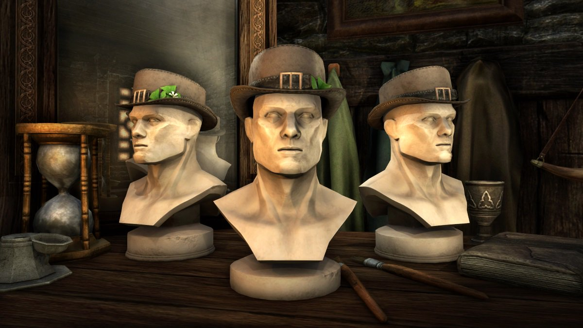 Don't get pinched! New festive items from the #ESO Crown Store are here. ☘️  Camlorn Top Hat Pack (700 crowns) Holiday dye stamps (200 crowns)  Snag these items while they last until March 19 at 10am EDT. Details: beth.games/2FDPGeP