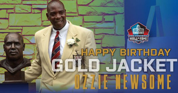 Happy Birthday to Hall of Fame TE Ozzie Newsome! Hall of Fame Enshrinement Class of 1999. to wish Happy Birthday!